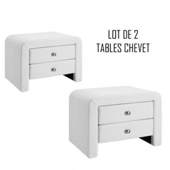 table chevet blanc